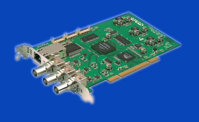 DTA-2160 - karta PCIe, port GigE ↔ 3 x we/wy ASI/SDI-SD